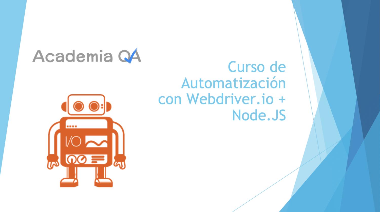 curso webdriver.io